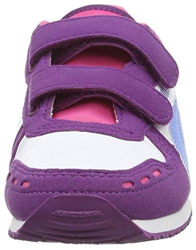 Puma  Cabana Racer SL V Kids, Low-top enfant mixte Violet (grape Juice-white-marina Blue 38)