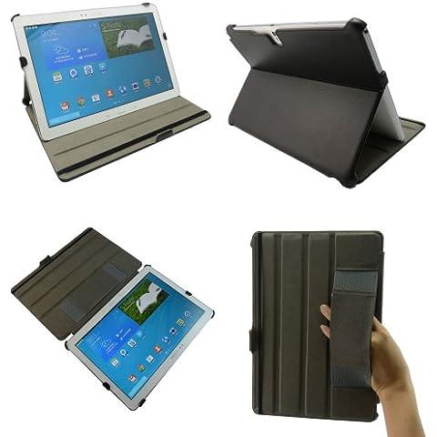 Premium Magnético funda de cuero modo de suspensión con soporte integrado apretón de la mano Para Samsung Galaxy Note Pro 12.2 P900 P905 / Tab Pro 12.2 T9000 Tablet