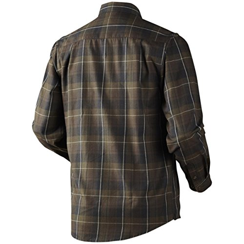 Hasvik Shirt Hunting Green Check -