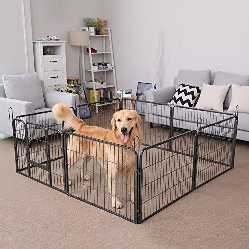 Songmics Welpenauslauf für Hunde Kaninchen 80 x 60 cm PPK86G - 3