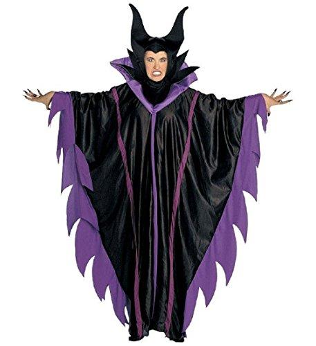 Cattivo Kostüm - WIDMANN Kostüm Karneval Damen Maleficent die dunkle Fee Kleid mit Halsband und Hut * 19945, Mehrfarbig S