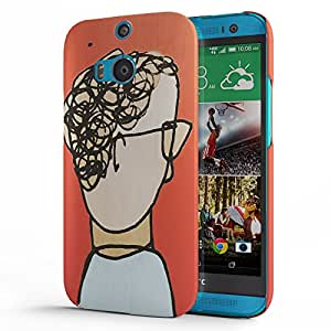 Koveru Designer Printed Protective Snap-On Durable Plastic Back Shell Case Cover for HTC One M8 - Mugs
