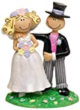Caricature Bride and Groom Wedding Cake Topper