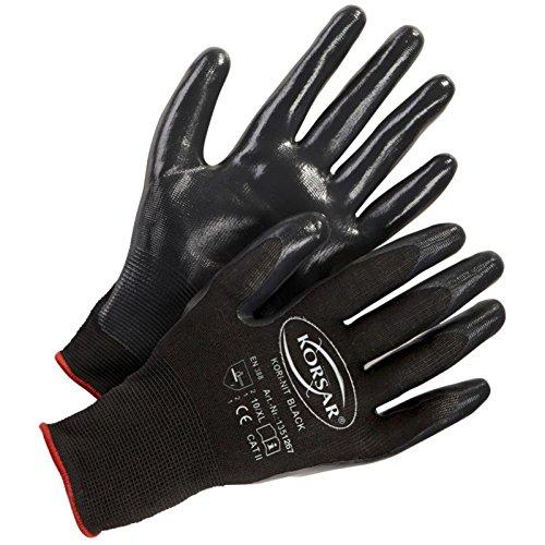 Handschuhe Präzisionshandschuhe Montagehandschuh Kori-Nit - Größe 9 - schwarz