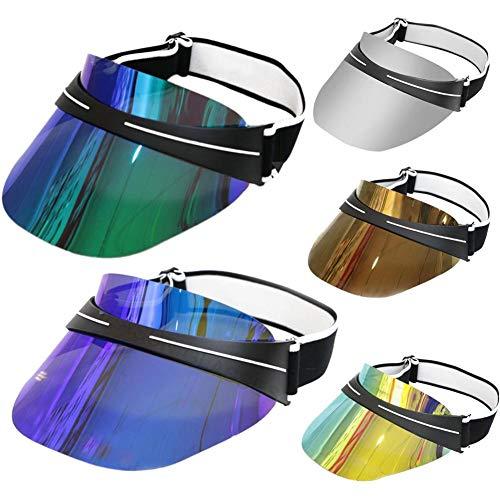 Galvanisierter Sonnenhut & Sonnenbrille Stirnband Sonnenbrille Kappe Blendfreier UV-Schutz Summer Beach Sonnenbrille Kappe