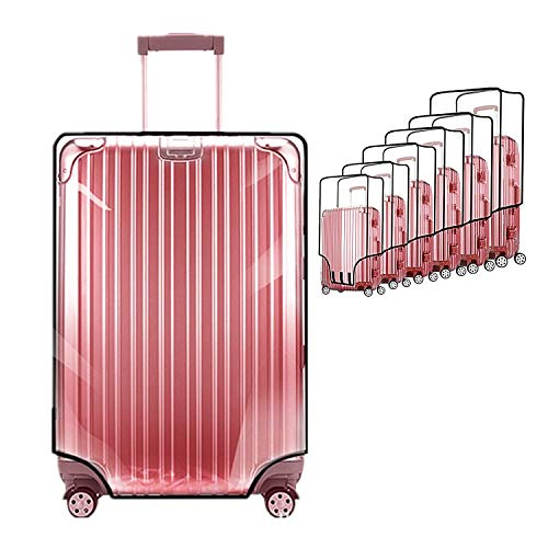 Protectores de fundas para maletas por ZKSport Viajar Protector de equipaje PVC transparente a prueba de polvo a prueba de rasguños 20 a 30 Pulgada (20'(12.99-14.57'L x 9.00-10.63'W x 18.9-20.08'H))