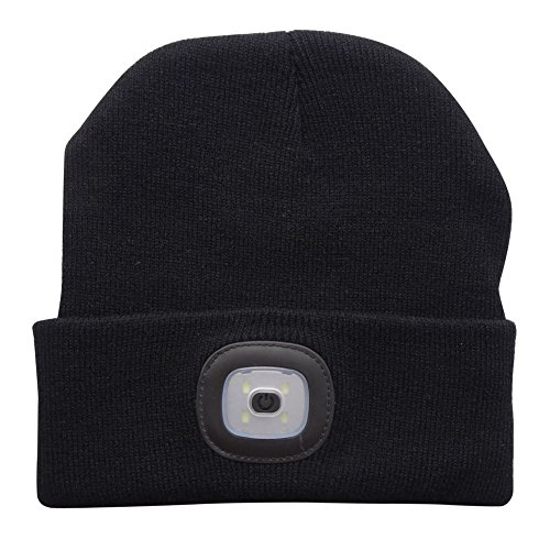 51clA%2BkPHsL. SS500  - EBILUN LED Knit Cap, Unisex Fashion Winter Warmer 4LED Knitted Hat Rechargeable Handsfree Flashlight Cap for Outdoor…