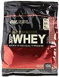 Optimum Nutrition Gold Standard Whey Eiweißpulver (mit Glutamin und Aminosäuren, Protein Shake von ON), Delicious Strawberry, 106 Portionen, 3.18kg