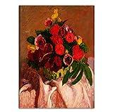 Knncch Home Decoration Print CanvasWandkunstPoster ÖlZeichnungen Paitings Bild Blumenstrauß In Einer Vase Dunkle Farben,40X50Cm