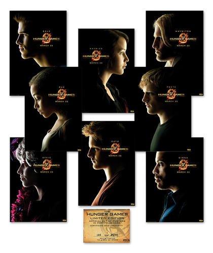 Hunger Games Poster Set aus 8 verschiedenen Poster - Tribute von Panem - Größe je 68,5 x 101,5 cm - exklusiv mit Echtheitszertifikat!
