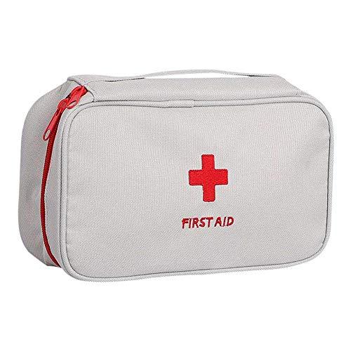 WESEEDOO Mini First Aid Kit Tragbare Reisemedizin Aufbewahrungstasche Notfall Kit Survival Kit Medizin Beutel Mit Reißverschluss Für Outdoor Home Office 1 stück Gray