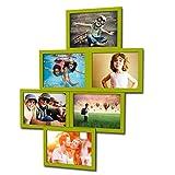 Artepoint Fotogalerie für 6 Fotos 13x18 cm - 3D 603 Optik - Bilderrahmen Bildergalerie Fotocollage Rahmenfarbe Grüner Apfel