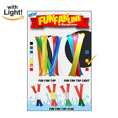 Fun Fan Line - Clappers Aplaudidores Luminosos Bastones Luminosos Inflables 10 Unidades...