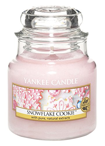 Yankee Candle Glaskerze, klein, Snowflake Cookie (Schneeflocken Cookie)
