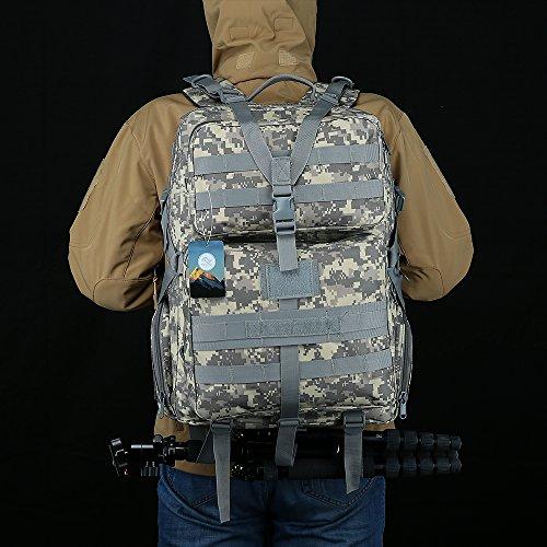 HUKOER 35L/45L Wanderrucksäcke Tactical Rucksack Outdoor Trekking Rucksack Wasserdichte Schultertasche Combat Pack für Reisen Wandern Jagd Schule mit Großer Kapazität ACU-45L