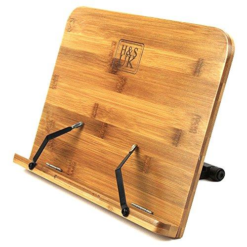 H & S Bambú lectura resto libro de recetas libro de cocina soporte atril...