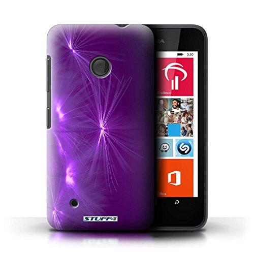 Kobalt® Imprimé Etui / Coque pour Nokia Lumia 530 / Jaune conception / Série Allumez la vie Pourpre