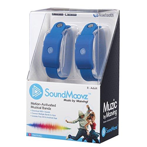 SoundMoovz - Pulseras Music By Moving para crear y componer sonidos y música, color azul (Fábrica de Juguetes 41239)