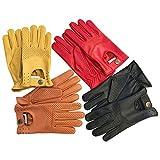 Herren-Handschuhe zum Autofahren, weiches, Echtleder, enganliegend, Retrostil, 508, Herren, 508, 508-Tan, xl