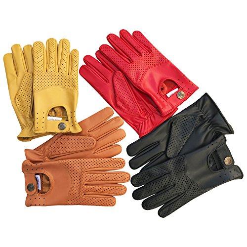 Herren-Handschuhe zum Autofahren, weiches, Echtleder, enganliegend, Retrostil, 508, Herren, 508, 508-Tan, Large