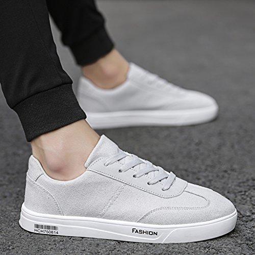 Neuen Stil Canvas-Schuhe Sommer-Schuhe-Stoff Atmungsaktiv Koreanischen-Stil Trend Wilden Männer Casual Canvas Schuhe der Männer (Farbe: gray-44) -