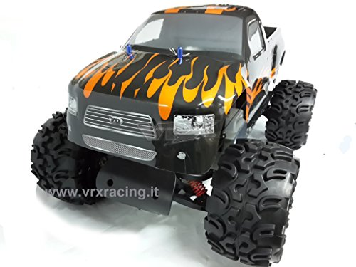 Monster truck blaze 1/5 off-road con motore a scoppio 30cc radio 2.4ghz 2wd rtr rh502mt vrx