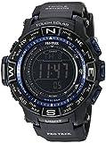 Casio Pro Trek, orologio al quarzo atomico per uomo, a energia solare, con display digitale, colore nero (PRW-3500Y-1CR)