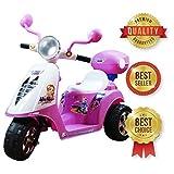 SABWAY® Moto electrica niños - Triciclo Scooter Infantil Batería 6V Recargable - Rosa Rueda Ancha Estable