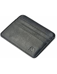 mSure Genuine Leather Credit Card Holder Wallet - 6 Card Slots and 1 Pockets, Slim Design by mSure