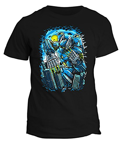 Tshirt Robot - destroyer - stree art - humor - tshirt divertenti