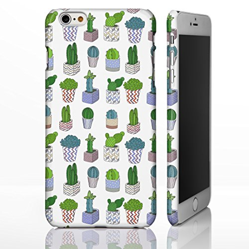 Hawaiian Floral Tropical Luau Party Handyhüllen für iPhone Modelle, Exotic Cactus, Hibiskus, Flamingo, Palm Spring Designs von iCaseDesigner, plastik, 25: Cactus in Pots on White, iPhone 6+ / 6S+ Plus - Slim Case
