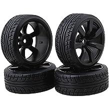 BQLZR Modelo de neumáticos de goma de coche con llantas de rueda de 7 radios Para