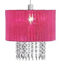 Paralume rosa, moderno e bello, in tessuto con le goccioline