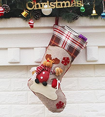 Weihnachts Socken Weihnachten Dekorationen Weihnachtsdeko Geschenktasche Weihnachtsmann Schneemann und Elk