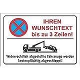 Parkplatzschild - IHREN WUNSCHTEXT bis zu 3 Zeilen! - Alu-Dibond 300x200 cm