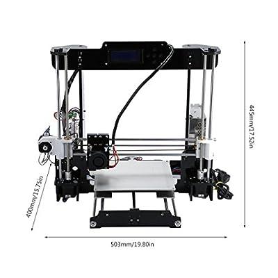 Anet A8 3D Drucker DIY Farbdruck Drucker Acryl Rahmen Mechanische Kit Drucken Materialien LCD Filament Aluminium Struktur