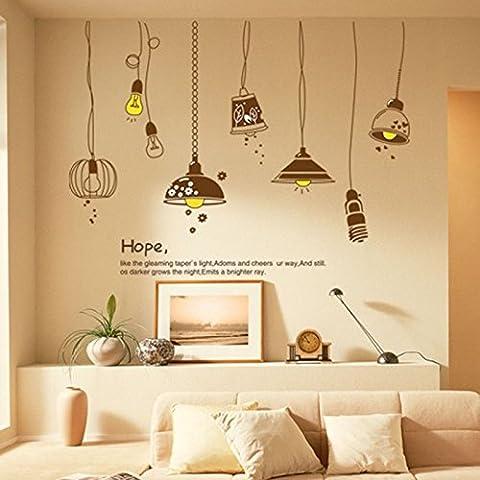 ZPL Pumi PVC parete adesivi pareti camera da letto salotto divano per rimuovere adesivi decorativi Lampadario caldo DIY 130 * 160cm , dlx9140