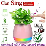 Music Flowerpot, Smart Plant Pots,Touch Music Plant Lamp With Rechargeable Wireless Bluetooth Speaker And LED Night LAMP Competible For All Smart Phones, A Perfect Gift For Your Loved Once (without Plant) And (Get Free Assured Gift Extra If Only Purchase