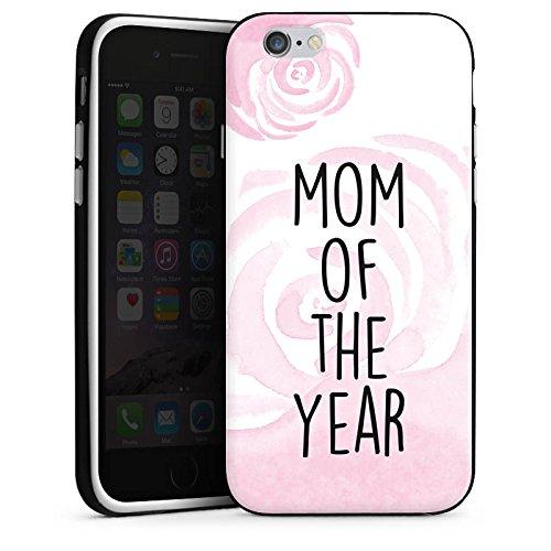 Apple iPhone X Silikon Hülle Case Schutzhülle Muttertag Mutter Mama Silikon Case schwarz / weiß