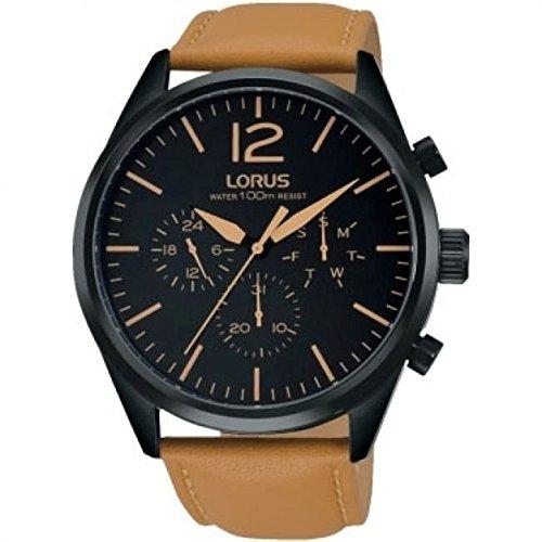 Lorus Mens Brown Chronograph RX411AX9