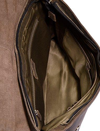 LEABAGS Oxford Umhängetasche aus echtem Büffel-Leder im Vintage Look - Muskat Olive