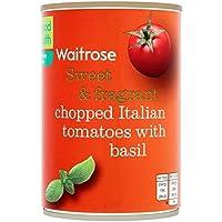 Chopped italiana tomates y albahaca Waitrose 400g