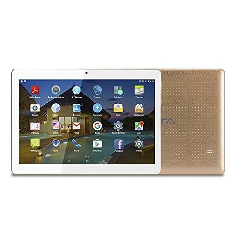 BEISTA 10 pounce (10.1) Tablette Tactile-(Quad Core, 3G Double-SIM ,2 Go de RAM,disque dur 32 Go, Android 5.1,Wifi,OTG,GPS)-Or