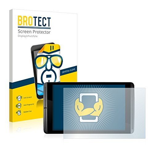 BROTECT Schutzfolie für Nvidia Shield Tablet - kristall-klare Bildschirmschutz-Folie, Anti-Fingerprint  [2er Pack]