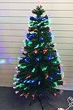 182,88cm verde Artificial de Navidad de fibra óptica árbol de Navidad con Multi LED 180cm-T823