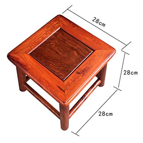 TINGTING Hocker Arbeitshocker Sitzhocker Sitzbank Massivholz Kurzes Quartett Ändern Schuhe Klein Möbel Geschnitzten Klassischen Retro Distressed (Farbe : Brown, größe : 35cm)