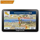Navigateur RegeMoudal GPS Voiture Navigation Europe Auto Navigation 7 Pouces HD Écran Tactile 2D 3D Carte Pré-installée France et EU Multiples Langues Carte Pays Mise à Jour Utilisation Gratuite de la Carte