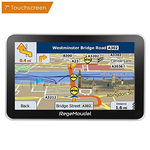 """RegeMoudal -Navegación por satélite de navegación GPS para coche, GPS Navegación con Pantalla táctil de 7"""", y Mapa DE 48 países, Planifique de manera inteligente las rutas, manténgase alejado de las secciones congestionadas y llegue rápidamente a su destino"""