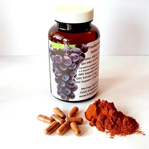 180 Kapseln 260 mg reines OPC Traubenkernextrakt plus natürliches Vitamin C aus Bio Acerola 100% rein ohne Zusatzstoffe