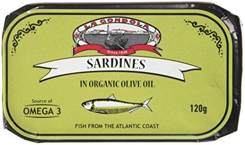 La Gondola Sardines in Organic Olive Oil 120 g (Pack of 5)